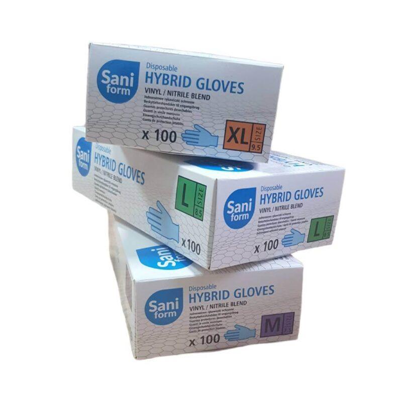 Saniform rękawiczki hybrydowe różne rozmiary