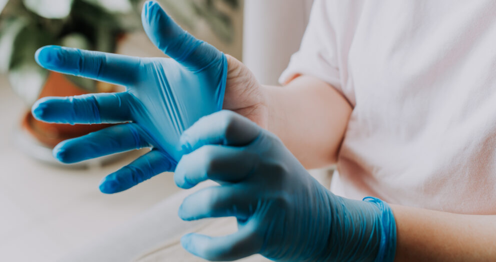 rękawiczki z nirtylu